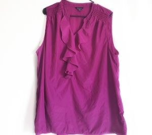 Fuschia Dressy Sleeveless Top